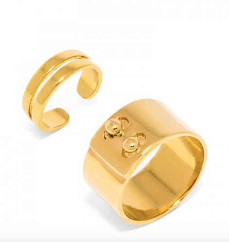 Screenshot of the BaubleBar Aristocrat Ring Set, available at BaubleBar.com for $34.