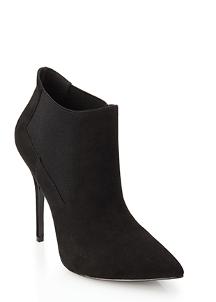 Screenshot of the Faux Suede Bootie from Forever 21.