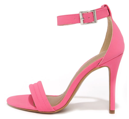 Screenshot of the Reservation for Two Fuchsia Nubuck Single Strap Heel from Lulus.com