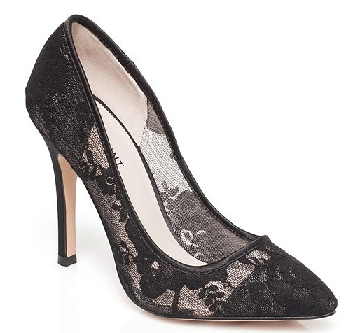 Screenshot of the ShoeMint  Classic Women's Lace Heels  found on Kohls.com.