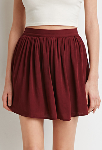 Screenshot of the gauze skater skirt from Forever 21.