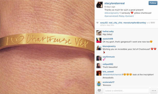Screenshot of Stacy London's Instagram