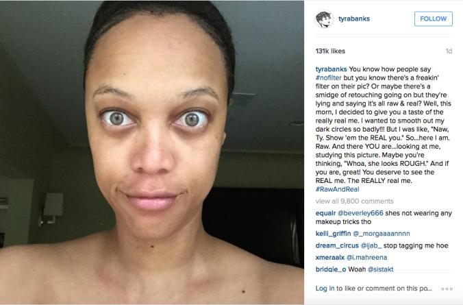 Screenshot of Tyra Banks' Instagram (@tyrabanks).