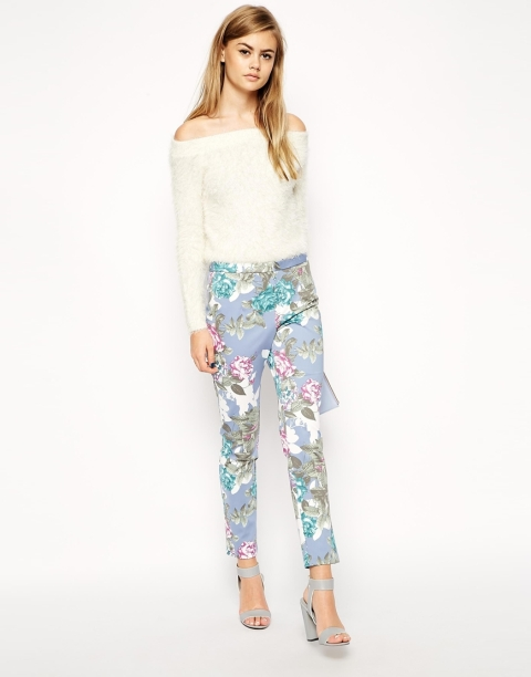 The Asos Printed Cigarette Pant, found on Asos.com.