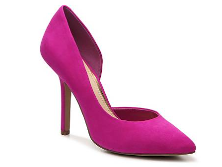 The BCBG Paris Jaze Suede Pump, found on DSW.com.