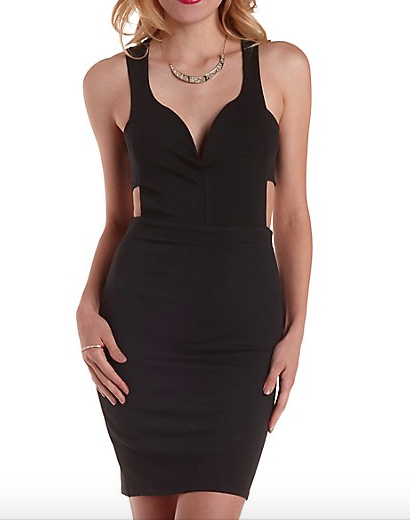 The Deep Sweetheart Cut-Out Dress, found on CharlotteRusse.com.