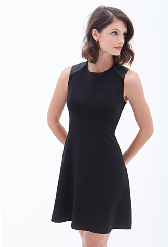 The Faux Leather-Paneled Dress, found on Forever21.com.
