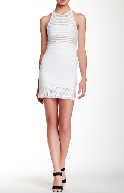 The IRO Hailee Sleeveless Mesh Contrast dress, found on NordstromRack.com.