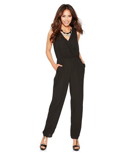 The Thalia Sodi Sleeveless Lattice-Back Jumpsuit, found on Macys.com.