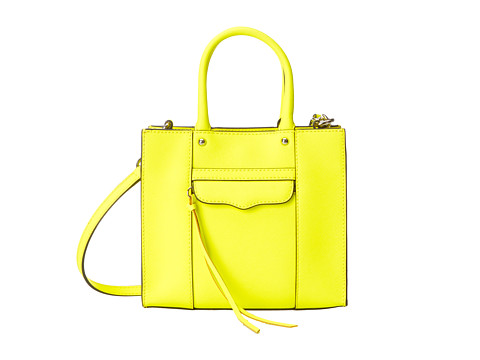 The Rebecca Minkoff Mab Mini Tote in Electric Yellow, found on Zappos.com.