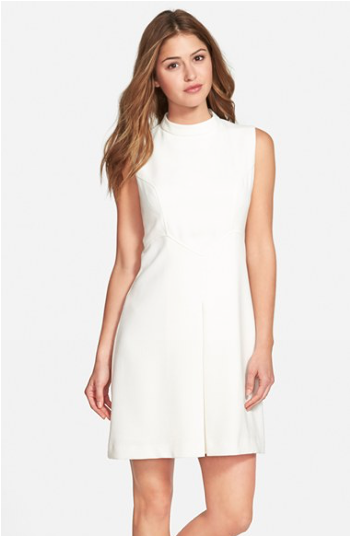 The Eliza J Pleat Detail Sleeveless Crepe A-Line Dress, found on Nordstrom.com.
