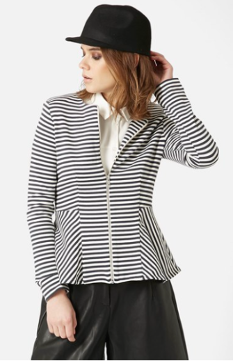 The Topshop Tailored Peplum Jacket, found on Nordstrom.com.