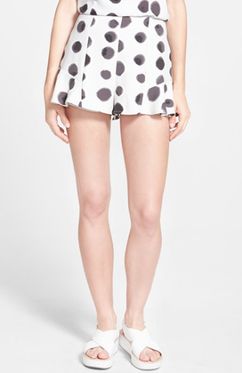 The Take Me Away Polka Dot Shorts by Keepsake the Label, found on Nordstrom.com.