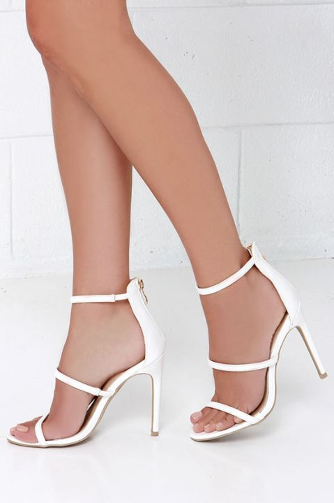 The Three Love White Dress Sandals, found on Lulus.com.