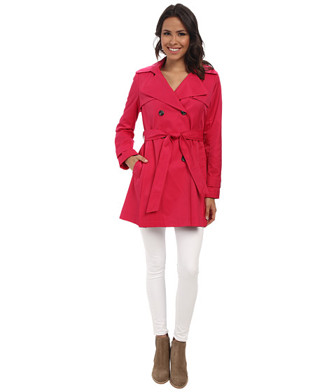 The DKNY Double-Breasted Skirted Trench Coat in Primrose, found on 6pm.com.