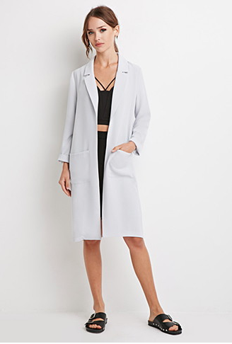 The Longline Open-Front Jacket, found on Forever21.com.