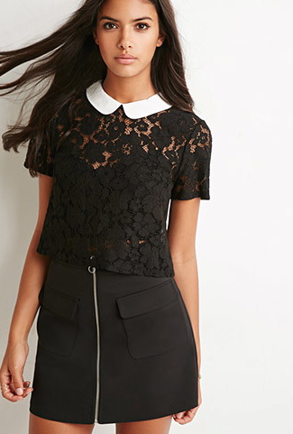 The Peter Pan Collar Lace Top, found on Forever21.com.