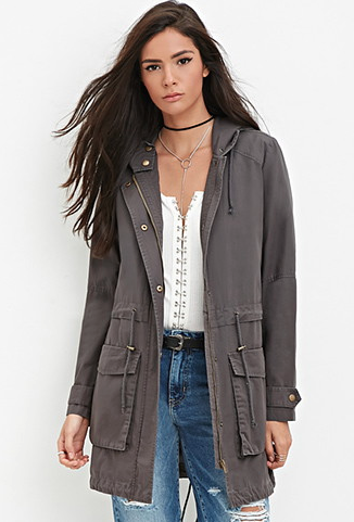 The Longline Hooded Utility Jacket, found on Forever21.com.