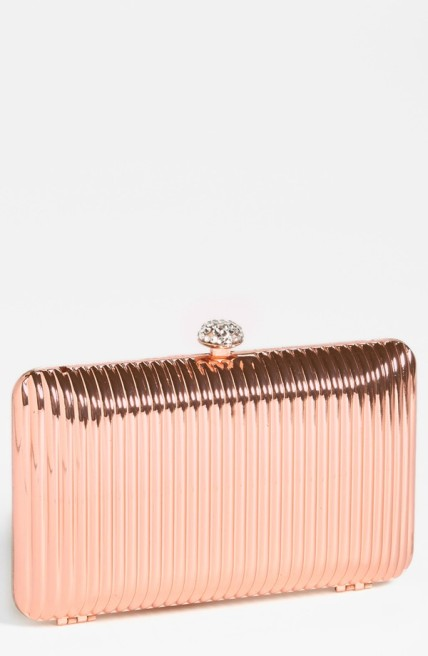 The Glint Linear Ridge Clutch in Rose Gold, found on Nordstrom.com.