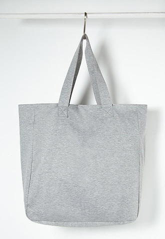 The Classic Oversized Tote in heather grey, found on Forever21.com.