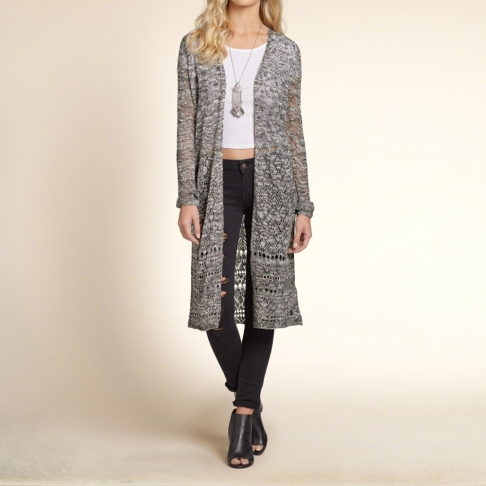 The Open Stitch Duster Cardigan, found on Hollisterco.com.
