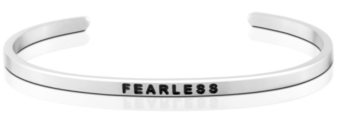The 'Fearless' MantraBand, found on MantraBand.com.