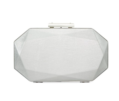 The INC International Concepts Tamme Minaudière in silver, found on Macys.com.