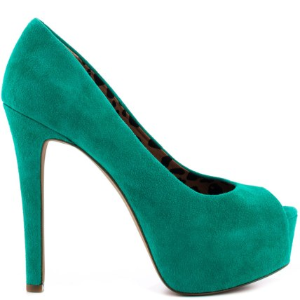 The Jessica Simpson Carri Pump in Palmetto Green, found on Heels.com.