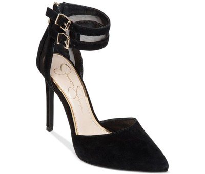 The Jessica Simpson Preya Two-Piece Ankle Strap Mesh Pumps, found on Macys.com.