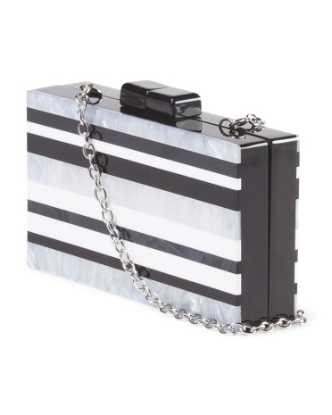 The La Regale Striped Hardcase Clutch, found on TJMaxx.tjx.com.