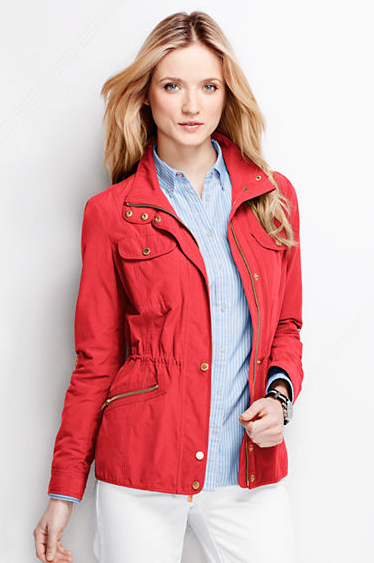 The Women's Military Anorak Jacket, found on LandsEnd.com.