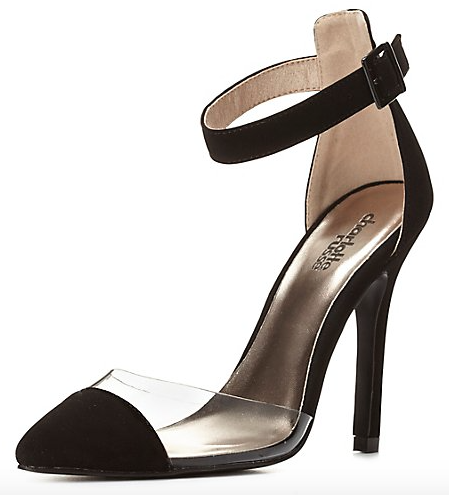 The Lucite Single Sole Cap-Toe Pumps, found on Charlotte Russe.com.