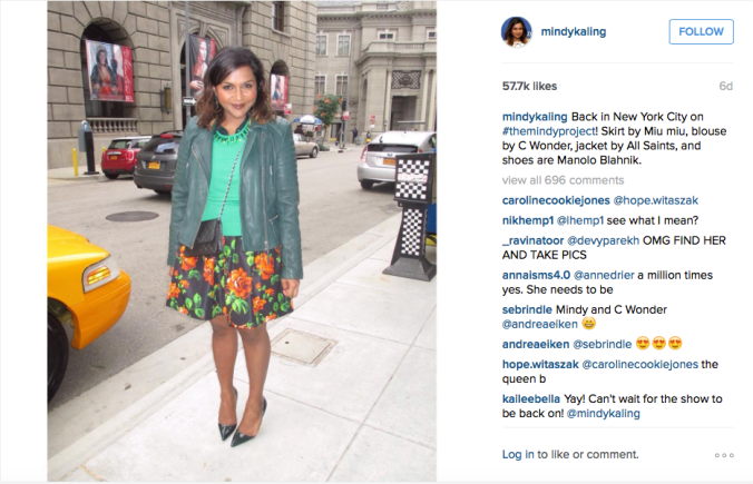 Instagram / @mindykaling