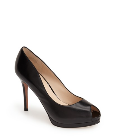 The Nine West First base Peep Toe Leather Pump, found on Nordstrom.com.