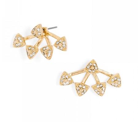 The Pavé Sputnik Ear Jackets, found on BaubleBar.com.