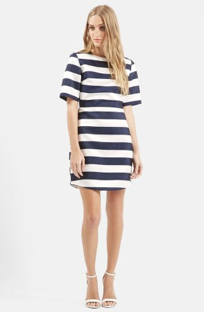 The Topshop Twill and Satin Stripe Dress, found on Nordstrom.com.