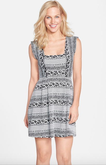 The Tracy Reese Nina Geo Pattern Knit Jacquard Fit and Flare Dress, found on NordstromRack.com.