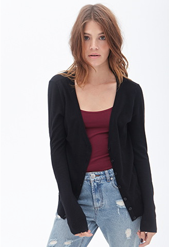 The Classic V-Neck Cardigan, found on Forever21.com.