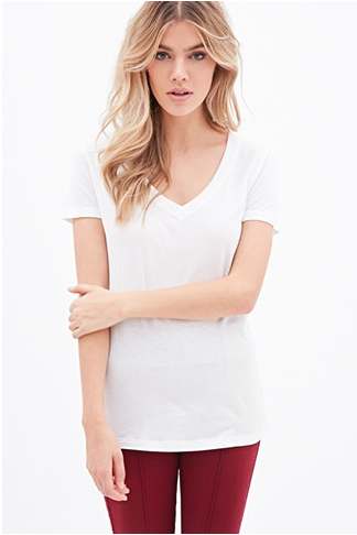 The Classic V-Neck Tee, found on Forever21.com.