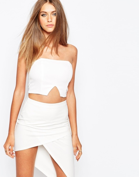 The Missguided V Insert Bustier Top, found on Asos.com.