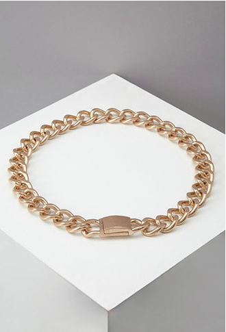 The Curb Chain Collar Necklace, found on Forever21.com.