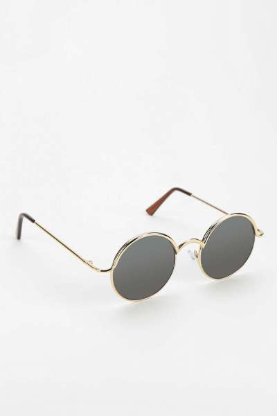 The Follow the Lines Circular Sunglasses, found on UrbanOutfitters.com.
