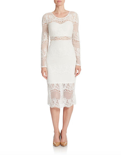 The Guess Lace Illusion Sheath Dress, found on LordandTaylor.com.