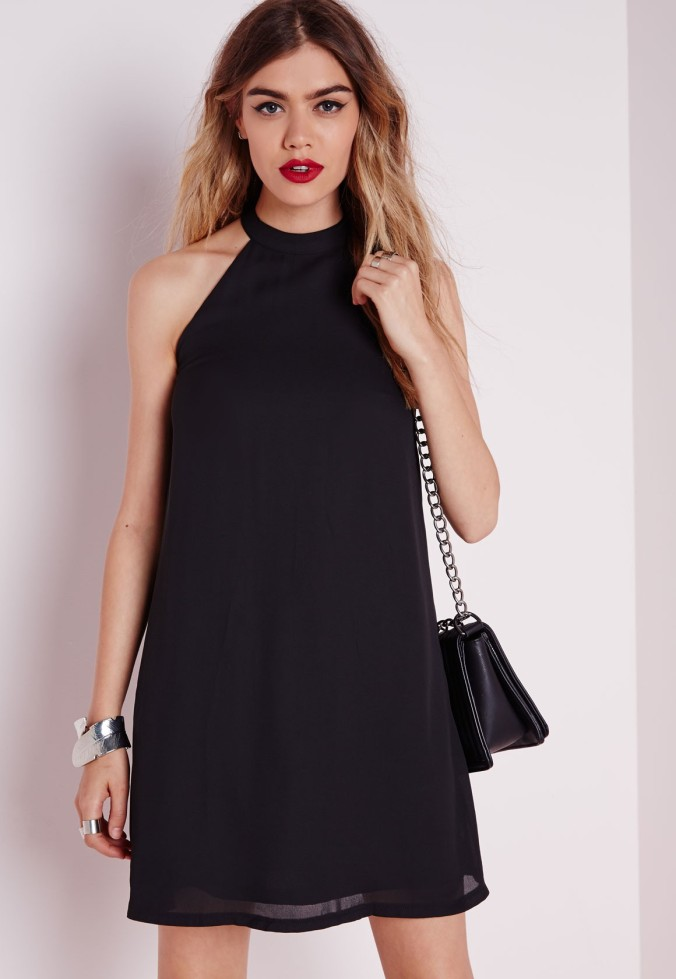 The High Neck Crepe Swing Dress, from Missguidedus.com.