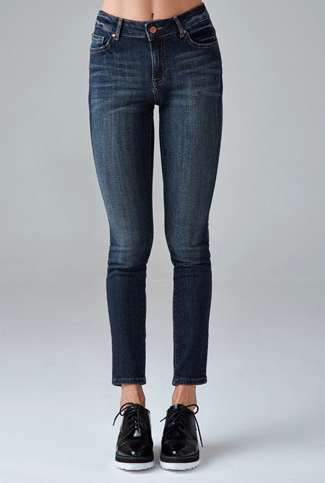 The Mid-Rise Skinny Jeans in dark denim, found on Forever21.com.