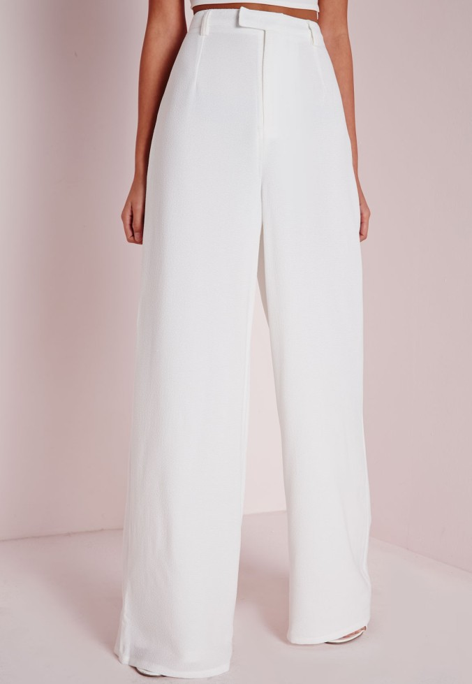 The Premium Crepe Wide Leg Trousers, found on Missguidedus.com.