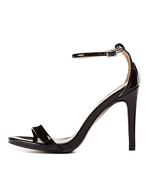 The Qupid Single Sole Ankle Strap Heels, found on CharlotteRusse.com.