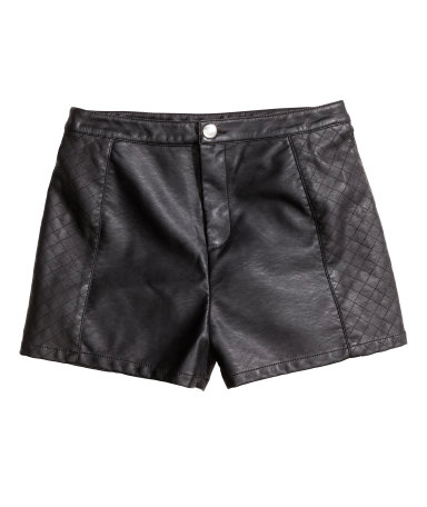 The Faux Leather Short Shorts, found on hm.com.