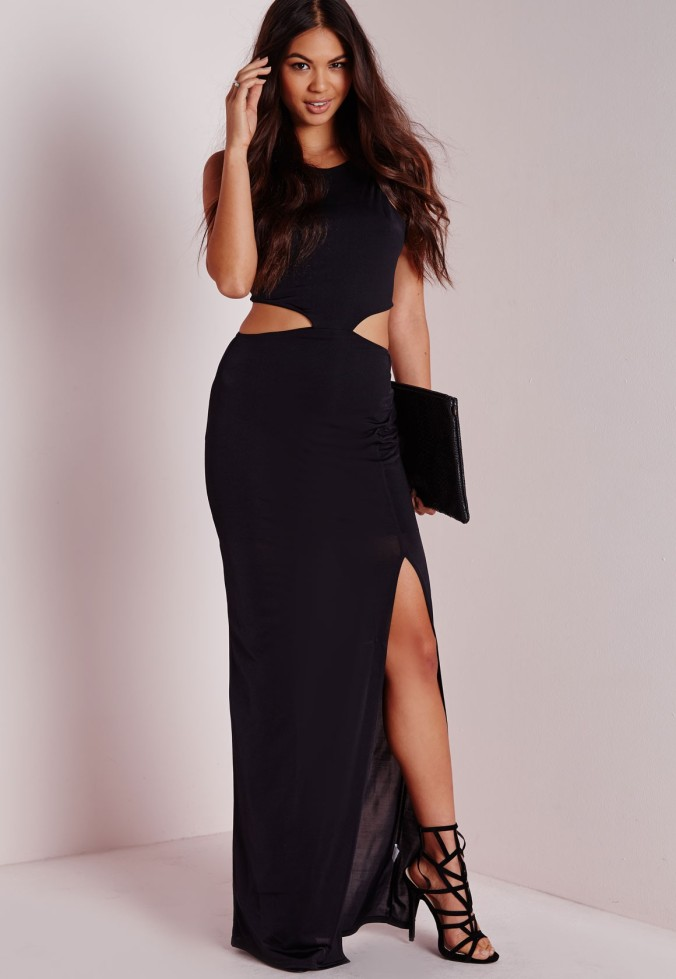 The Slinky Cut Out Detail Maxi Dress from Missguidedus.com.