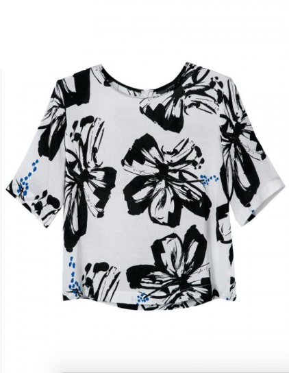 The White T-Shirt with Black Floral, found on Choies.com.